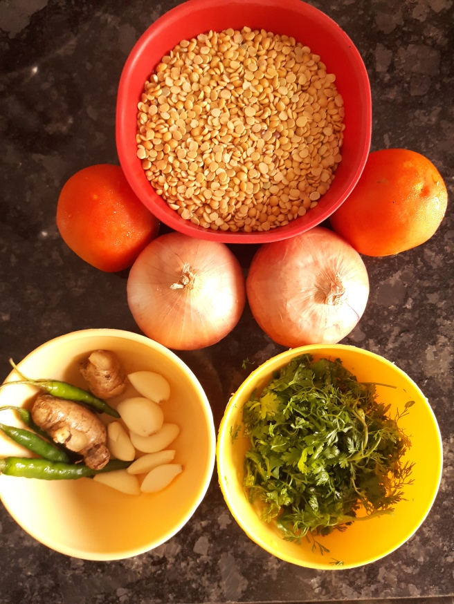 Dhaba Style Dal Tadka Ingredients
