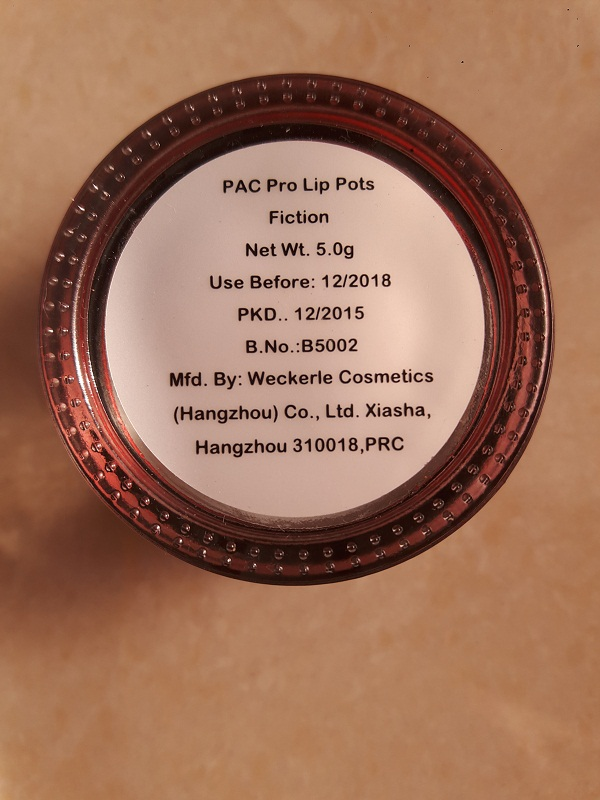 foodtravelandmakeup PAC Pro Lip Pot in Fiction.jpg