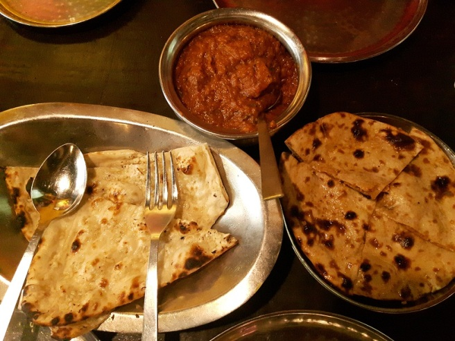 foodtravelandmakeup Restaurant Review Urban Tadka Dum Aalo Garlic Naan and Ghobi Paratha.jpg