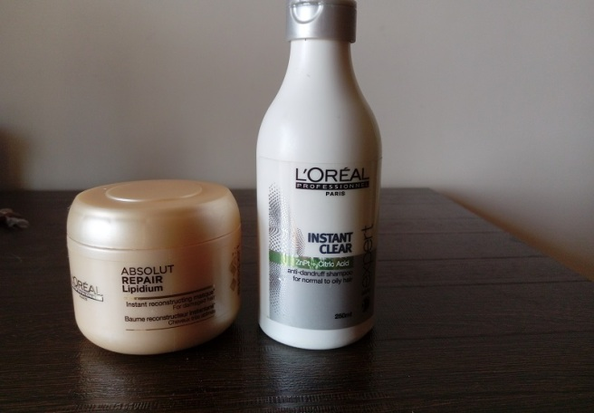 foodtravelandmakeup Loreal Professional Instant Clear Shampoo and Loreal Expert Absolute Repair Conditioner